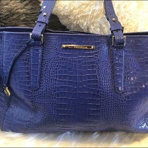 Authentic sapphire blue Brahmin purse
